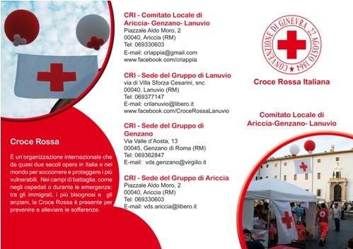 Brochure Croce Rossa Comuni dell'Appia