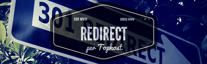 redirect tophost senza www con www